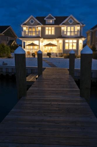 NJ Custom home with balcony