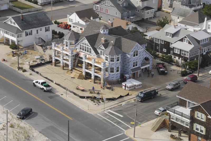 Project site of a NJ custom shore home in Ocean County