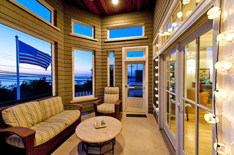 NJ custom built home with hurricane glass