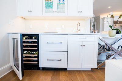Custom kitchen with wine rack