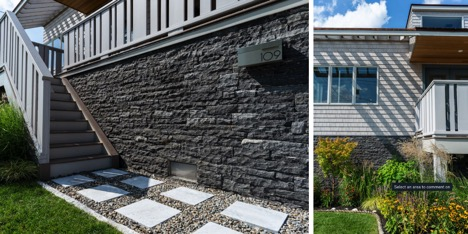 Curb appeal special elements used by NJ custom home builder