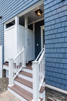 Outdoor shower for NJ custom home