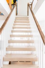 Open back staircase in NJ custom home