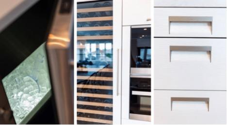 Custom kitchen built-ins shown in NJ home