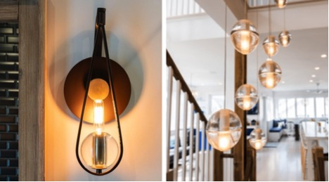 Antique lighting fixtures to use in New Jersey custom home