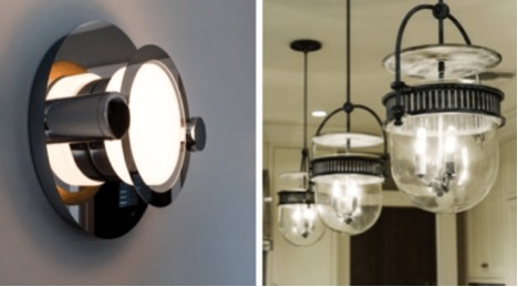 Antique light fixtures to use in custom built home in New Jersey